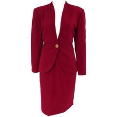 Luisa Spagnoli fucsia wool skirt suit