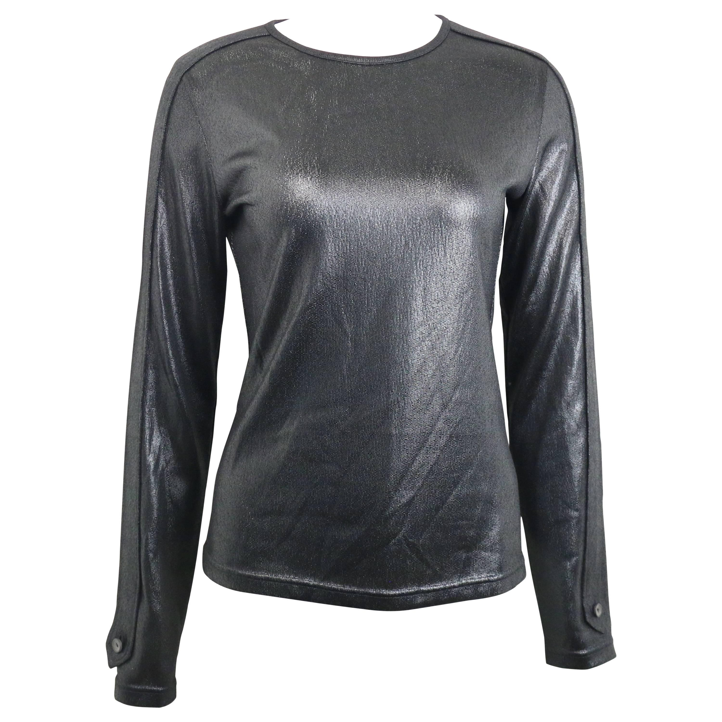 Gucci by Tom Ford Black Polyester Long Sleeves Top