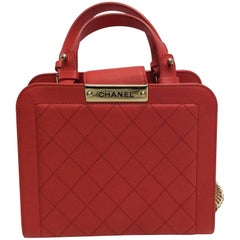 Chanel NWT Small Coral Shopping Crossbody