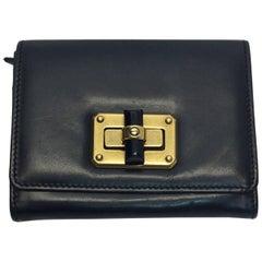 Lanvin Black Happy Calfskin Wallet