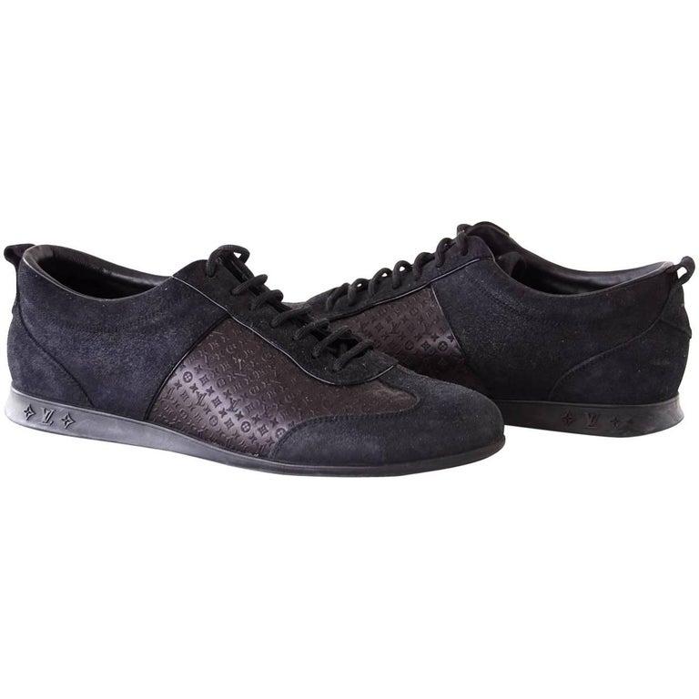 Louis Vuitton Sneaker Monogram Leather Black Suede  39 / 9