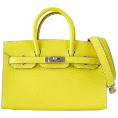 8b5a4dbefbf Hermes Birkin Bag Tiny Miniature Micro Lime Limited Edition rare