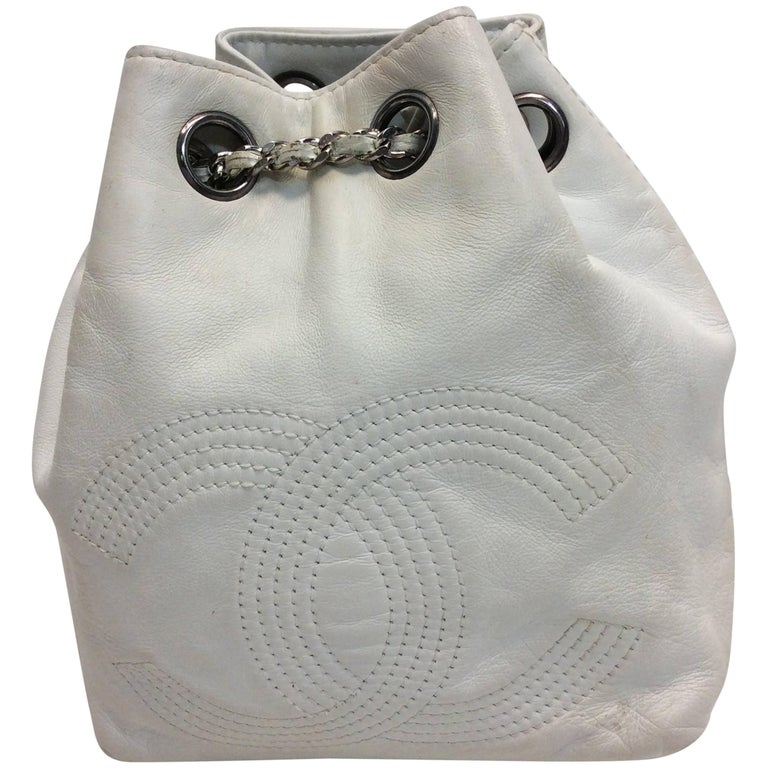 Chanel White Small Vintage Backpack