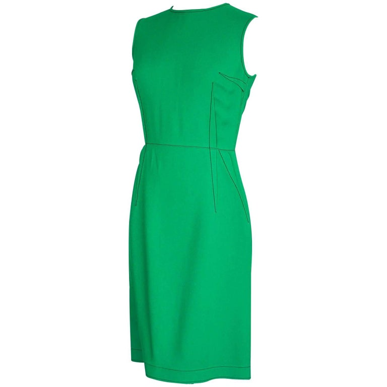 Lanvin Dress Green Stitch Detail Exceptionally Styled  36 / 4 For Sale