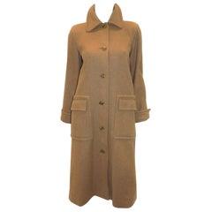 YSL Yves Saint Laurent Rive Gauche Vintage wool  camel haring bone coat