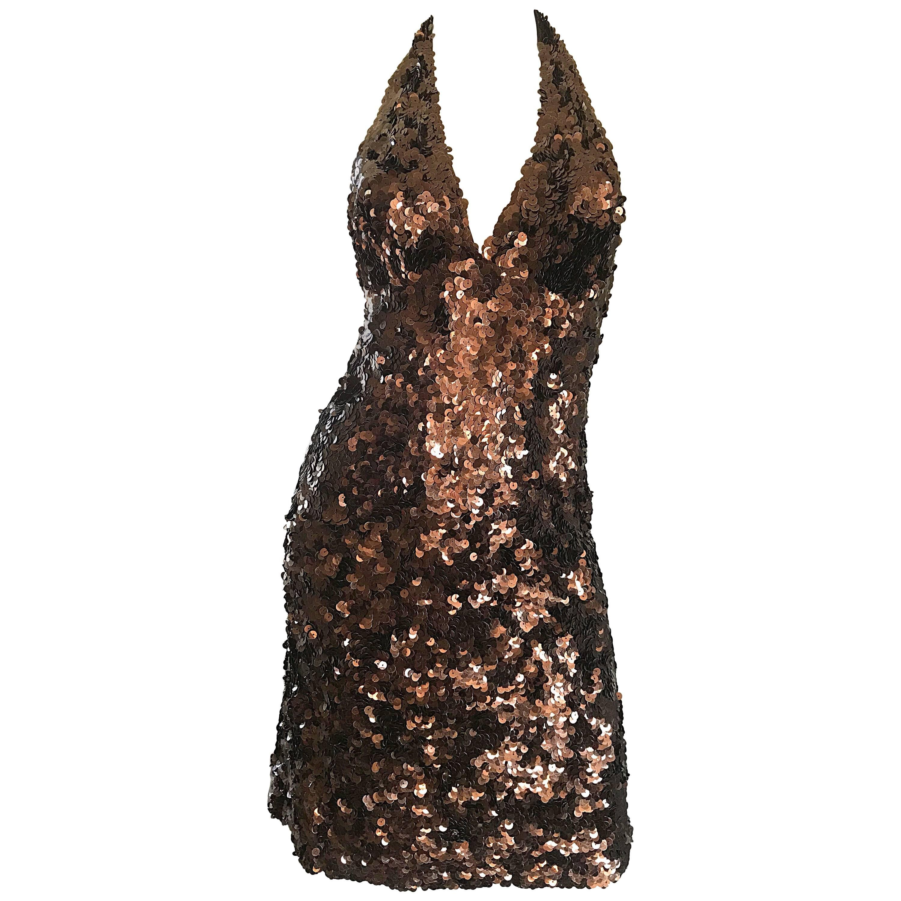 Brown Halter Cocktail Dresses
