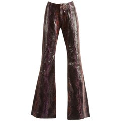 Tom Ford for Gucci Mens Python Plum Flares, Spring-Summer 2000