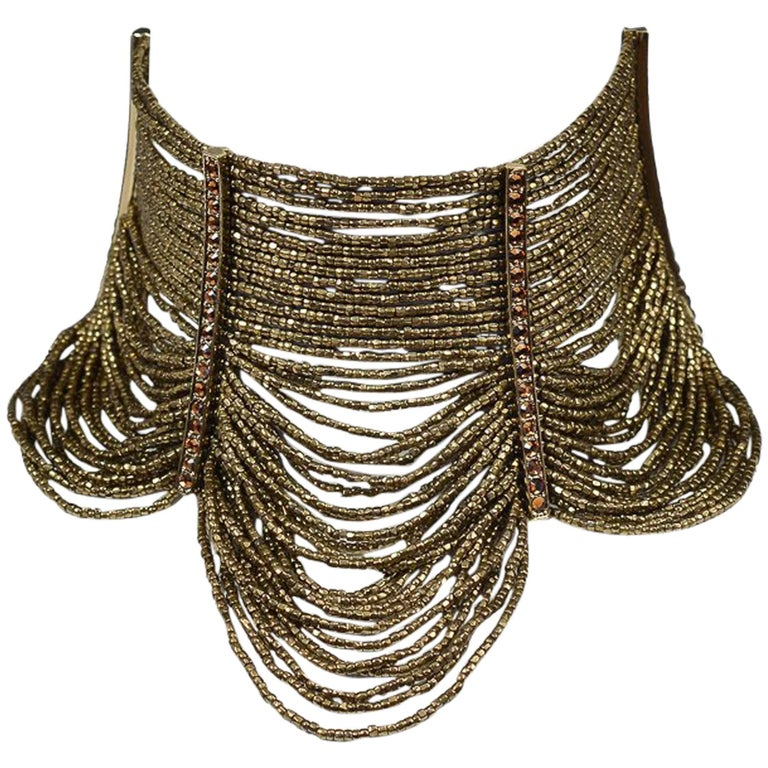 Dior by John Galliano Masai beaded & rhinestone necklace, 1990s, offered by Resurrection