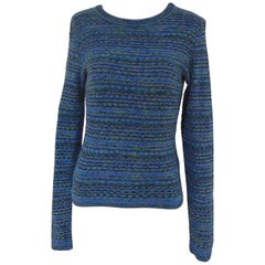 Missoni blu cotton sweater