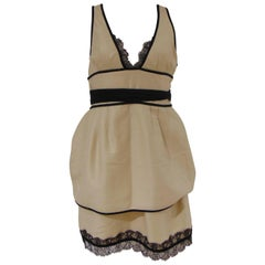 Dsquared2 Cream Black cotton dress