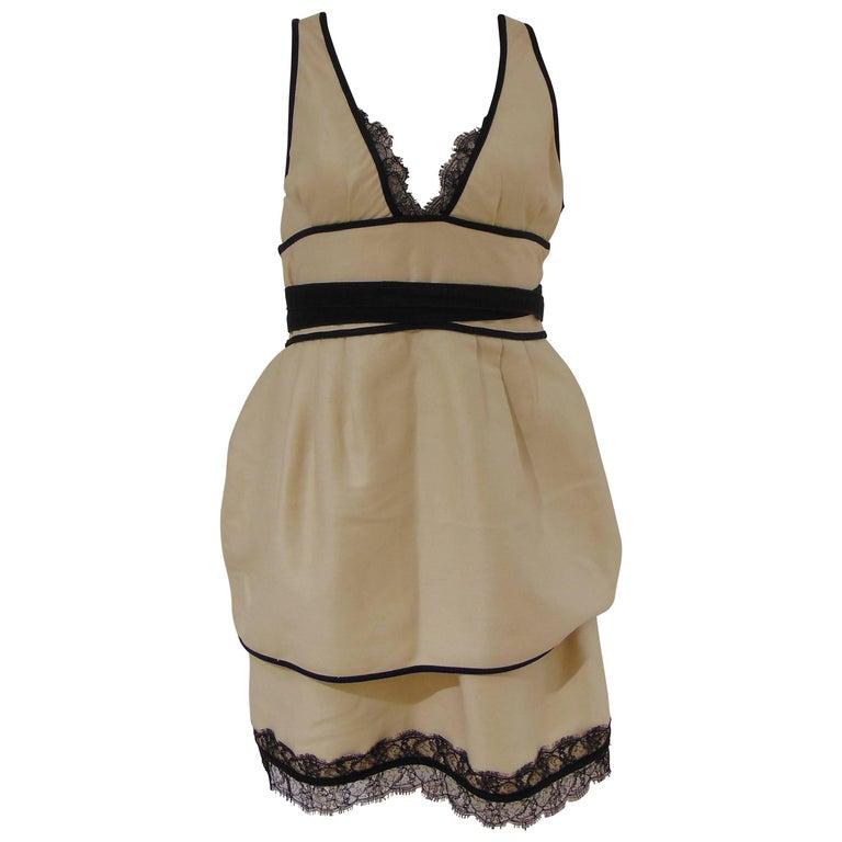 Dsquared2 Cream Black cotton dress