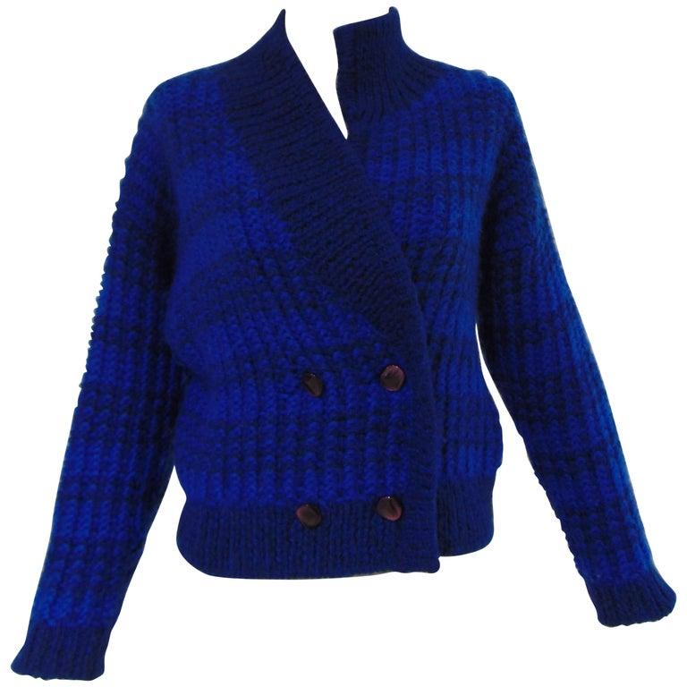 Emilio Pucci by Herwool blu cardigan  For Sale