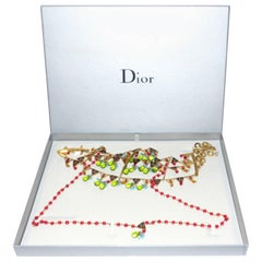 Rare Dior Long Necklace Pate de verre / Difficulte to find