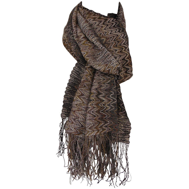 Missoni multicoloured nude tones cotton scarf