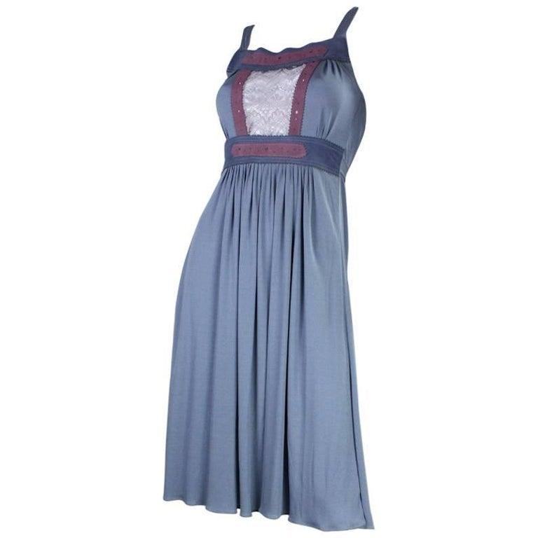 1970's Ann Buck Matte Jersey & Lace Dress 1