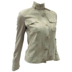 Ralph Lauren Black Label womans  Suede Leather Biker Jacket Coat  sz 2