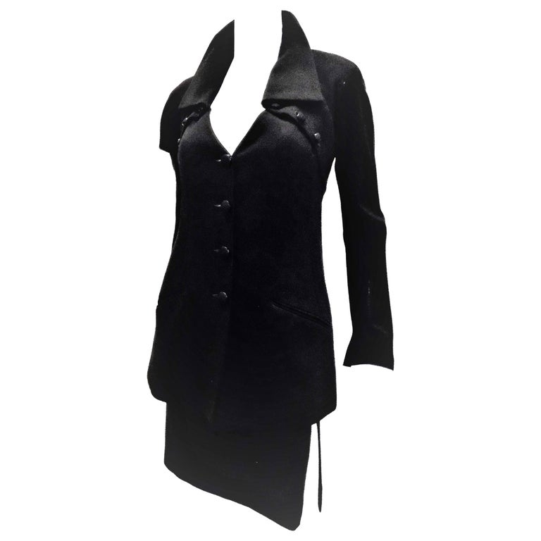 Chloe by Karl Lagerfeld Vintage black skirt suit