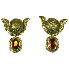 Yves Saint Laurent Barbaric Gilt Earclips