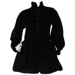 A/W 1976-1977 Yves Saint Laurent Corduroy Russian Collection Coat
