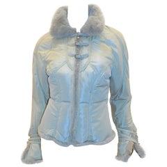 Roberto Cavalli Mink fur trimmed puffer  jacket