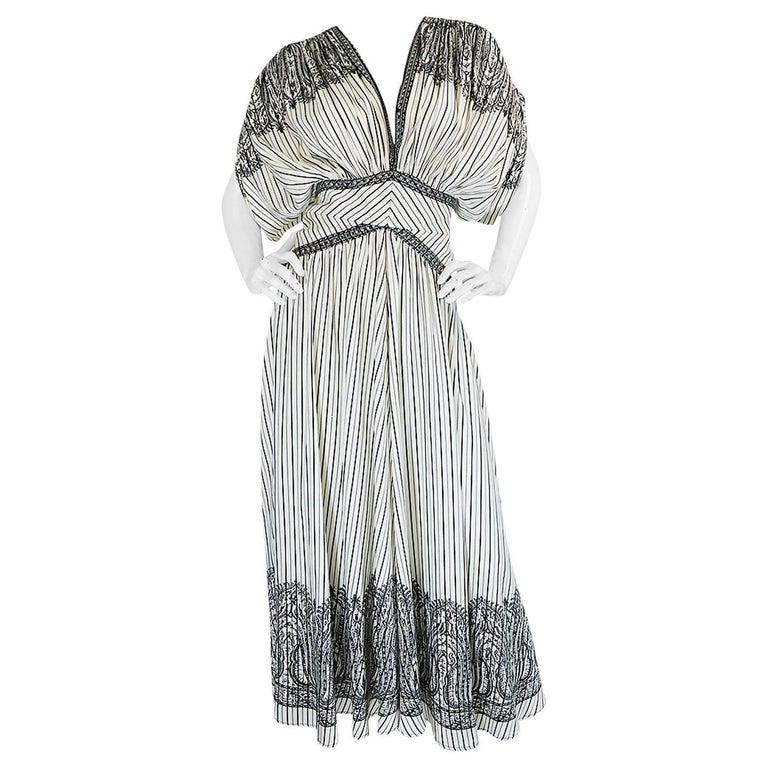 "S/S 2017 Etro ""Jasmin"" Runway Graphic Printed Silk Dress For Sale"