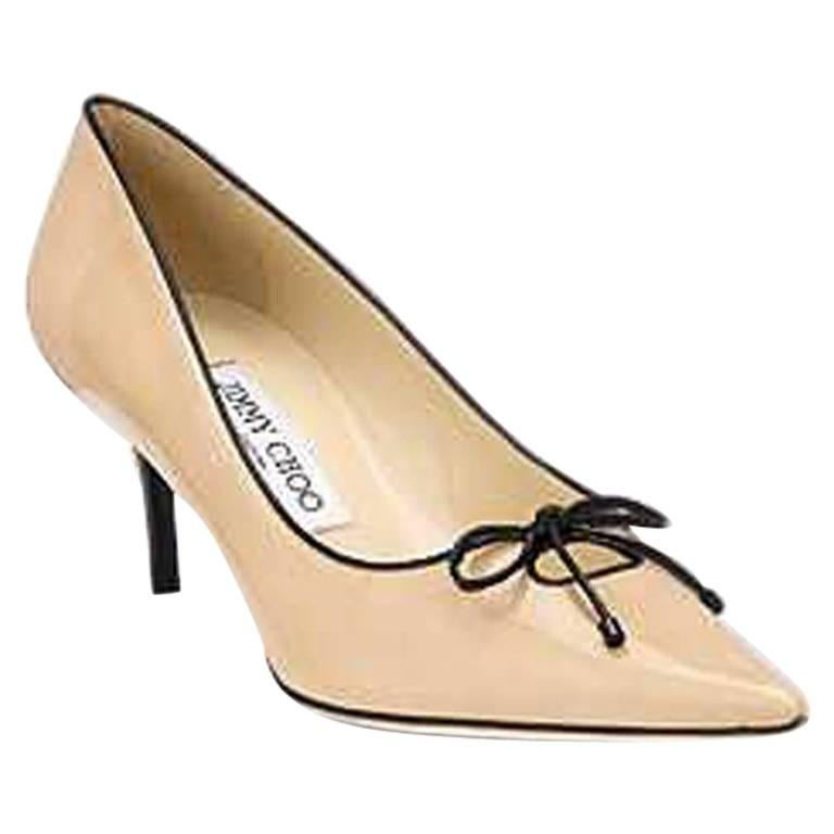 Jimmy Choo Nude and Black Owlet shoes