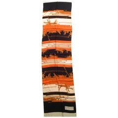"""Ted Lapidus Scarf - 100% Silk - 1970's - """"Graphisme"""""""