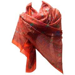 Rare Hermes Scarf - XL Size - 100% Silk Musselin