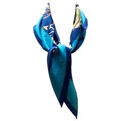 Triangle Hermes Scarf - 100% Silk Rare