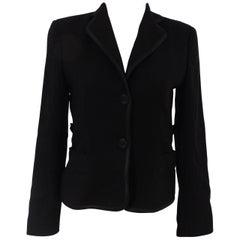 Valentino black cotton blazer jacket