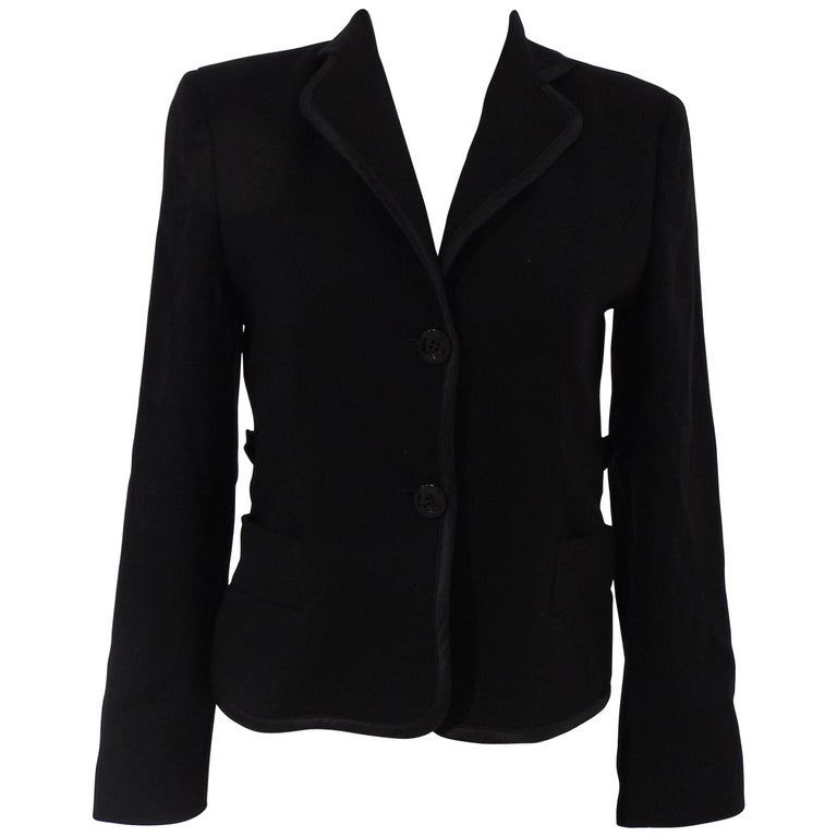 Valentino black cotton blazer jacket