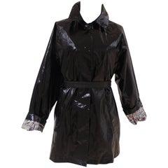 Louis Vuitton black cotton rain - trench coat