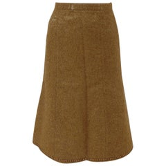 Moschino Cheap & Chic beije gold tone wool skirt