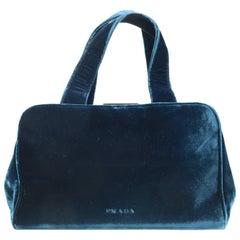 Prada Blue Velvet Handbag