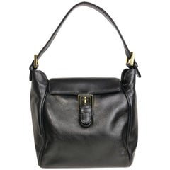 Fendi Black Leather flap Handbag
