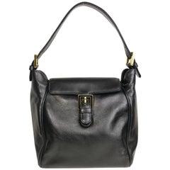 Fendi Black Leather flap Handbag