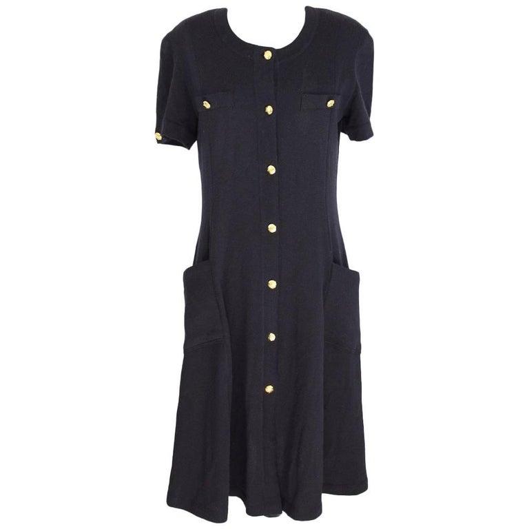 Escada Margaretha Ley vintage wool black long dress size 38 de made germany