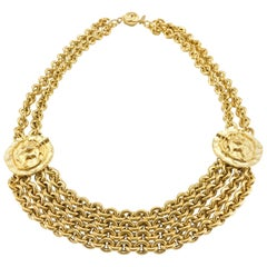 1984 Chanel Centaur Medallion Chain Necklace
