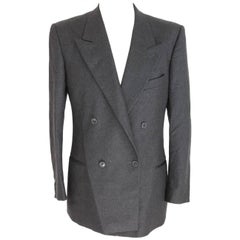 Giorgio Armani wool gray jacket blazer double breasted men's size 46 1990s