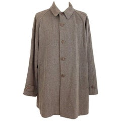 Giorgio Armani vintage wool brown beige classic coat size 50 it made italy