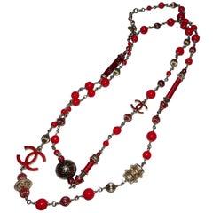 Limited Edition Long Necklace Chanel Logo CC Collection PARIS SHANGHAI