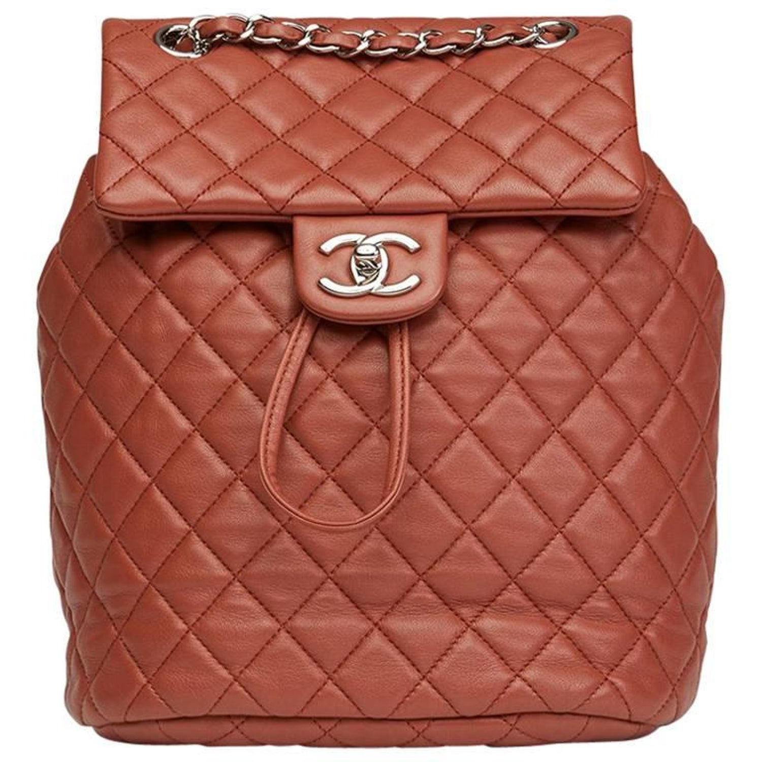 fc6dd55e25a6 2016 Chanel Brick Brown Quilted Lambskin Small Urban Spirit Backpack at  1stdibs