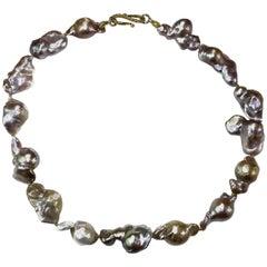 Baroque Pearl Necklace in Multi tones