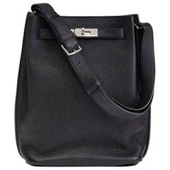 2008 Hermes Black Togo Leather So Kelly 22