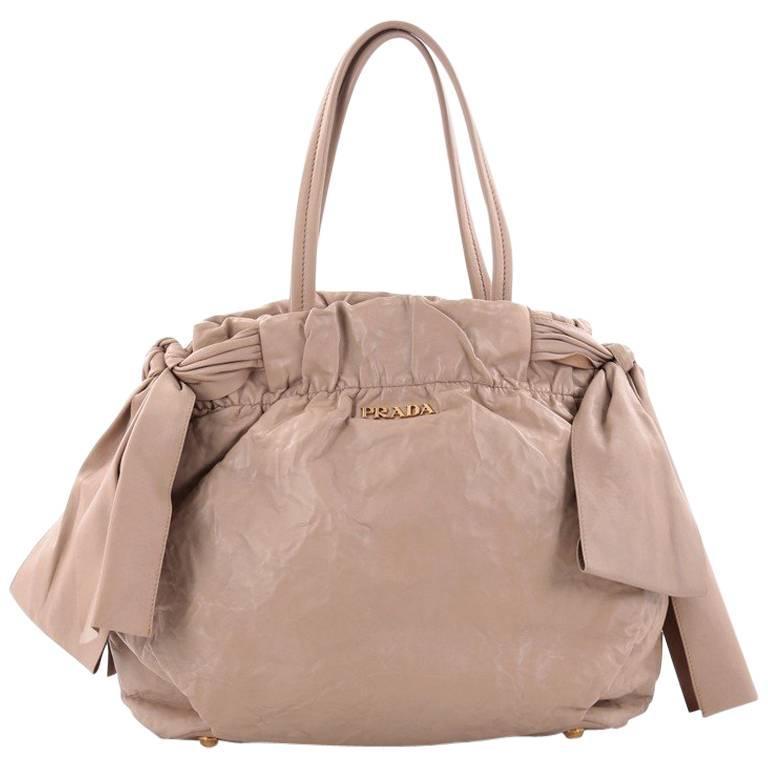 d8d070453523 Prada Convertible Bow Tie Shoulder Bag Leather Medium at 1stdibs