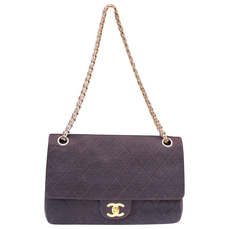 "1970-1980s Chanel ""Timeless"" brown bag"