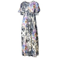 Ronald Amey Abstract Floral Pattern Maxi Dress