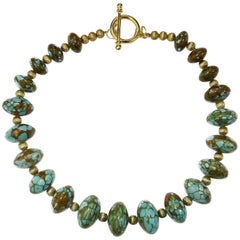 Graduated Rondels of Turquoise Necklace
