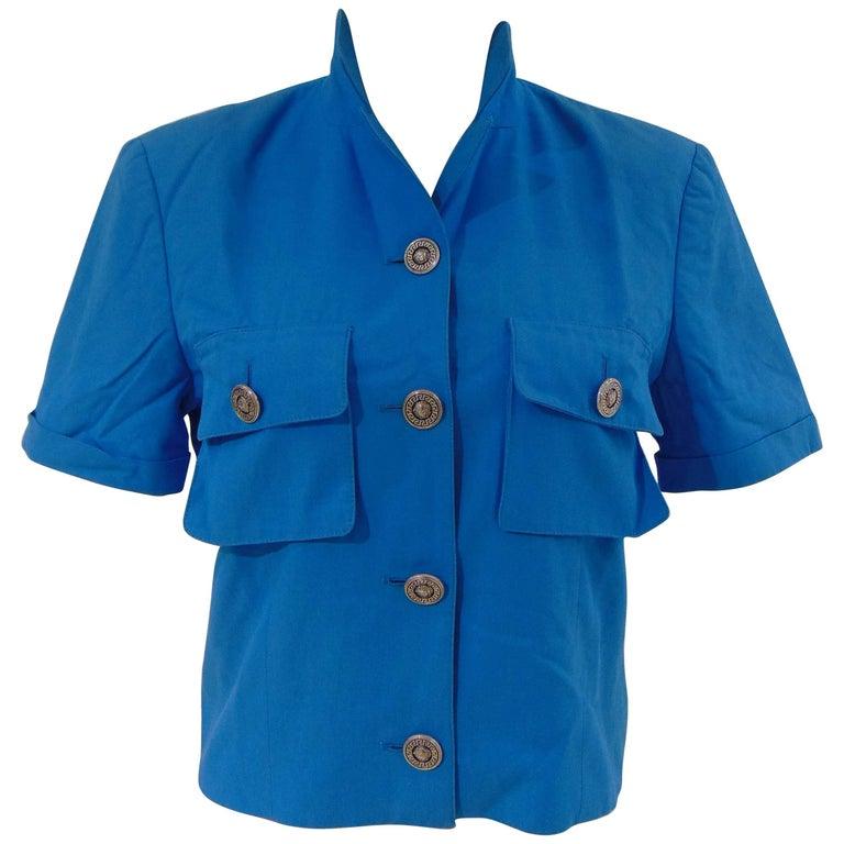 Versace Sport turquoise Short sleeves Jacket
