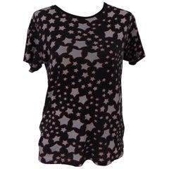 Yves Saint Laurent cotton black stars t-shirt